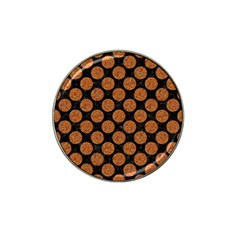 Circles2 Black Marble & Rusted Metal (r) Hat Clip Ball Marker (4 Pack) by trendistuff