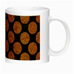 CIRCLES2 BLACK MARBLE & RUSTED METAL (R) Night Luminous Mugs Right