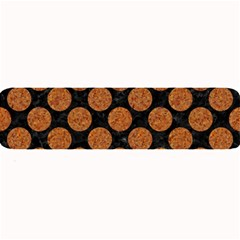 Circles2 Black Marble & Rusted Metal (r) Large Bar Mats by trendistuff