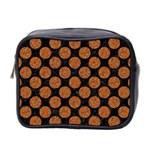 CIRCLES2 BLACK MARBLE & RUSTED METAL (R) Mini Toiletries Bag 2-Side