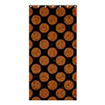 CIRCLES2 BLACK MARBLE & RUSTED METAL (R) Shower Curtain 36  x 72  (Stall)