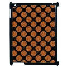 Circles2 Black Marble & Rusted Metal (r) Apple Ipad 2 Case (black)