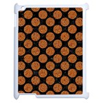 CIRCLES2 BLACK MARBLE & RUSTED METAL (R) Apple iPad 2 Case (White)
