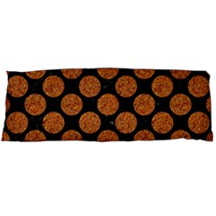 Circles2 Black Marble & Rusted Metal (r) Body Pillow Case (dakimakura) by trendistuff