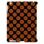 CIRCLES2 BLACK MARBLE & RUSTED METAL (R) Apple iPad 3/4 Hardshell Case (Compatible with Smart Cover)
