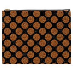 Circles2 Black Marble & Rusted Metal (r) Cosmetic Bag (xxxl)