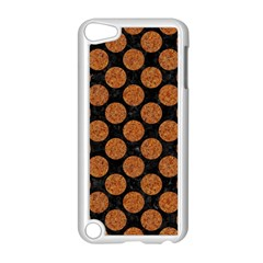 Circles2 Black Marble & Rusted Metal (r) Apple Ipod Touch 5 Case (white) by trendistuff