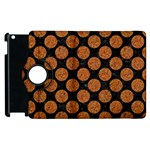 CIRCLES2 BLACK MARBLE & RUSTED METAL (R) Apple iPad 2 Flip 360 Case Front