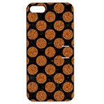 CIRCLES2 BLACK MARBLE & RUSTED METAL (R) Apple iPhone 5 Hardshell Case with Stand