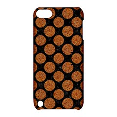 Circles2 Black Marble & Rusted Metal (r) Apple Ipod Touch 5 Hardshell Case With Stand