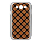 CIRCLES2 BLACK MARBLE & RUSTED METAL (R) Samsung Galaxy Grand DUOS I9082 Case (White) Front