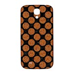 CIRCLES2 BLACK MARBLE & RUSTED METAL (R) Samsung Galaxy S4 I9500/I9505  Hardshell Back Case Front