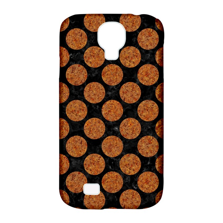 CIRCLES2 BLACK MARBLE & RUSTED METAL (R) Samsung Galaxy S4 Classic Hardshell Case (PC+Silicone)