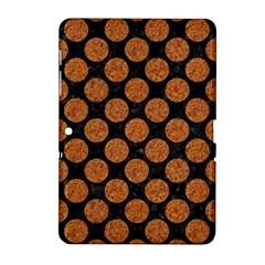 CIRCLES2 BLACK MARBLE & RUSTED METAL (R) Samsung Galaxy Tab 2 (10.1 ) P5100 Hardshell Case