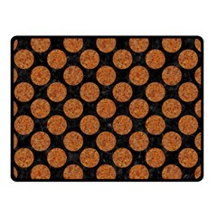 Circles2 Black Marble & Rusted Metal (r) Double Sided Fleece Blanket (small)  by trendistuff