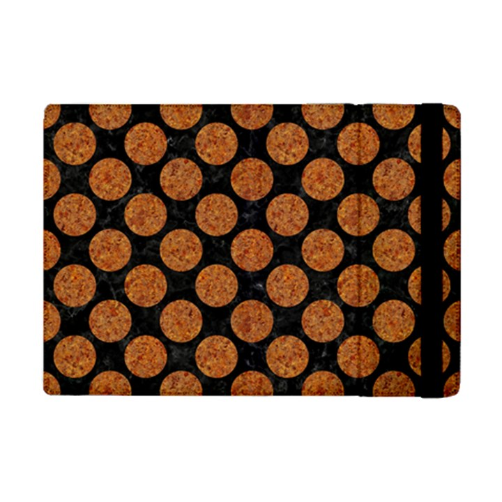 CIRCLES2 BLACK MARBLE & RUSTED METAL (R) iPad Mini 2 Flip Cases