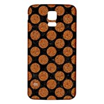 CIRCLES2 BLACK MARBLE & RUSTED METAL (R) Samsung Galaxy S5 Back Case (White)