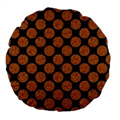 Circles2 Black Marble & Rusted Metal (r) Large 18  Premium Flano Round Cushions by trendistuff