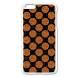 CIRCLES2 BLACK MARBLE & RUSTED METAL (R) Apple iPhone 6 Plus/6S Plus Enamel White Case Front