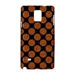 CIRCLES2 BLACK MARBLE & RUSTED METAL (R) Samsung Galaxy Note 4 Hardshell Case