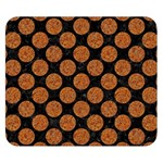 CIRCLES2 BLACK MARBLE & RUSTED METAL (R) Double Sided Flano Blanket (Small)