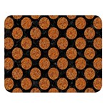 CIRCLES2 BLACK MARBLE & RUSTED METAL (R) Double Sided Flano Blanket (Large)  80 x60 Blanket Front