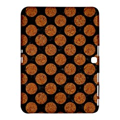 Circles2 Black Marble & Rusted Metal (r) Samsung Galaxy Tab 4 (10 1 ) Hardshell Case
