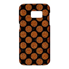 Circles2 Black Marble & Rusted Metal (r) Samsung Galaxy S7 Hardshell Case  by trendistuff