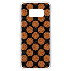 Circles2 Black Marble & Rusted Metal (r) Samsung Galaxy S8 White Seamless Case
