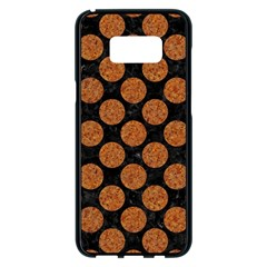Circles2 Black Marble & Rusted Metal (r) Samsung Galaxy S8 Plus Black Seamless Case