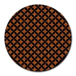 CIRCLES3 BLACK MARBLE & RUSTED METAL Round Mousepads