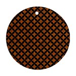 CIRCLES3 BLACK MARBLE & RUSTED METAL Ornament (Round)