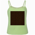 CIRCLES3 BLACK MARBLE & RUSTED METAL Green Spaghetti Tank