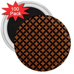 CIRCLES3 BLACK MARBLE & RUSTED METAL 3  Magnets (100 pack)