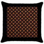 CIRCLES3 BLACK MARBLE & RUSTED METAL Throw Pillow Case (Black)