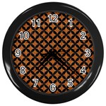 CIRCLES3 BLACK MARBLE & RUSTED METAL Wall Clocks (Black)