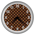 CIRCLES3 BLACK MARBLE & RUSTED METAL Wall Clocks (Silver)