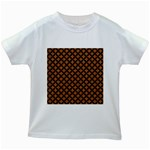 CIRCLES3 BLACK MARBLE & RUSTED METAL Kids White T-Shirts