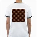 CIRCLES3 BLACK MARBLE & RUSTED METAL Ringer T-Shirts Back