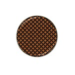 CIRCLES3 BLACK MARBLE & RUSTED METAL Hat Clip Ball Marker