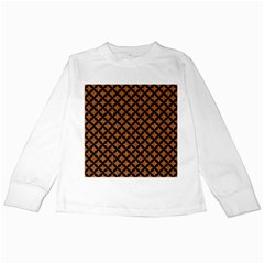 Circles3 Black Marble & Rusted Metal Kids Long Sleeve T Shirts