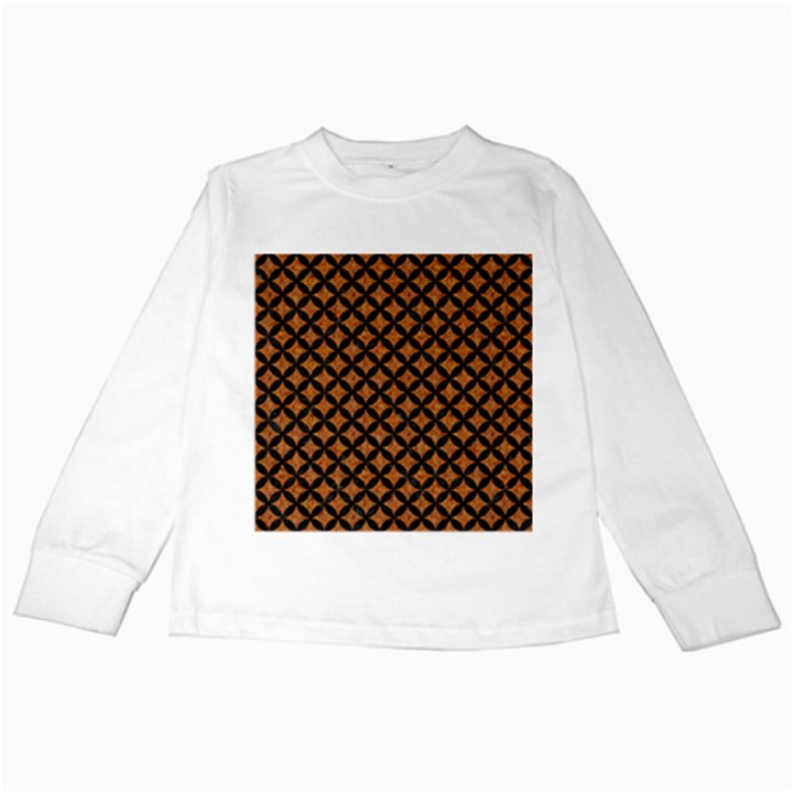 CIRCLES3 BLACK MARBLE & RUSTED METAL Kids Long Sleeve T-Shirts