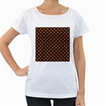 CIRCLES3 BLACK MARBLE & RUSTED METAL Women s Loose-Fit T-Shirt (White)
