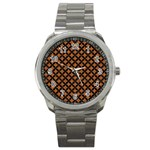 CIRCLES3 BLACK MARBLE & RUSTED METAL Sport Metal Watch