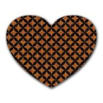 CIRCLES3 BLACK MARBLE & RUSTED METAL Heart Mousepads