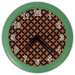 CIRCLES3 BLACK MARBLE & RUSTED METAL Color Wall Clocks