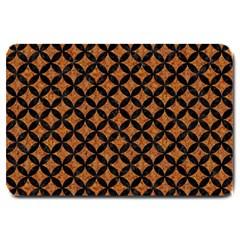 Circles3 Black Marble & Rusted Metal Large Doormat  by trendistuff