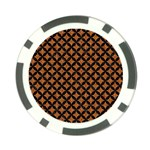 CIRCLES3 BLACK MARBLE & RUSTED METAL Poker Chip Card Guard