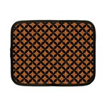 CIRCLES3 BLACK MARBLE & RUSTED METAL Netbook Case (Small)