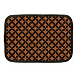 CIRCLES3 BLACK MARBLE & RUSTED METAL Netbook Case (Medium)